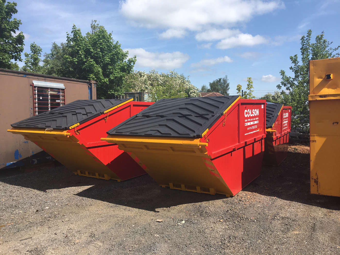 skip hire nottingham derby & leicester colson skips