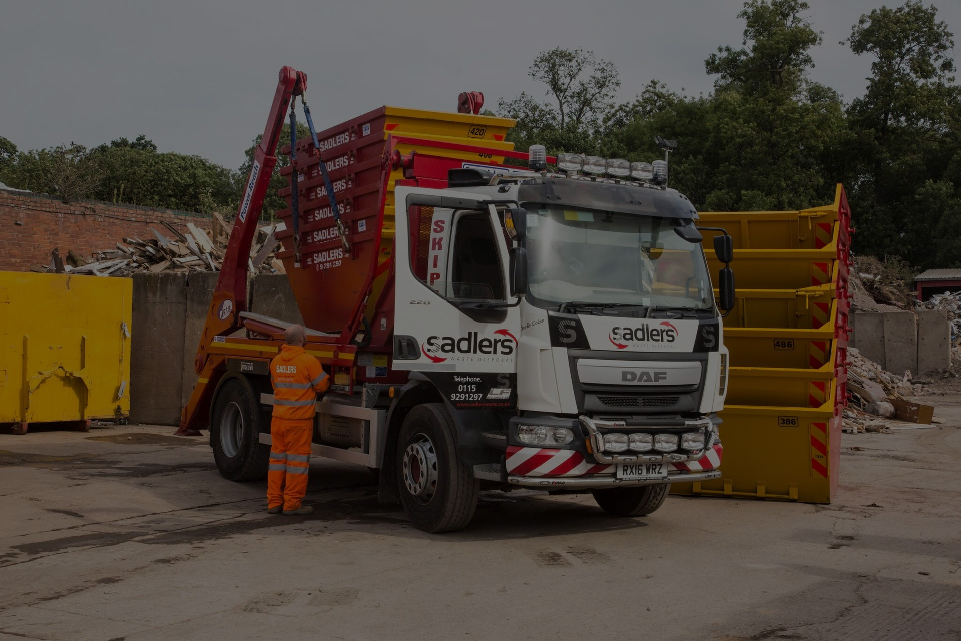 colson skips truck for skip hire nottingham derby leicester